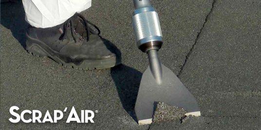 SCRAP'AIR 55® – Décapage des étanchéités bitumineuses