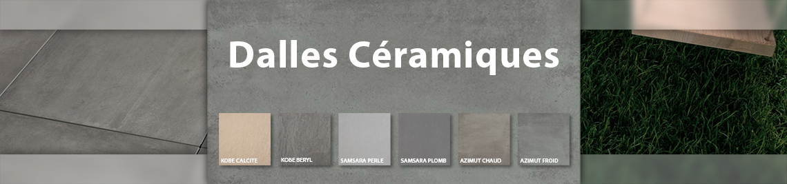 Dalles céramique disponible chez Roofmart