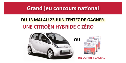 Grand jeu concours national – une voiture à gagner !
