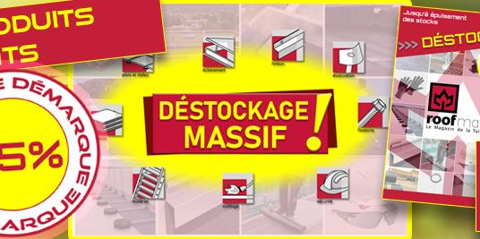 Grand Déstockage – Démarque moins 15% – avril 2021