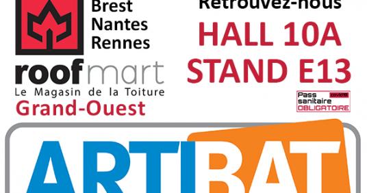Roofmart Grand-Ouest vous donne RDV au salon Artibat de Rennes